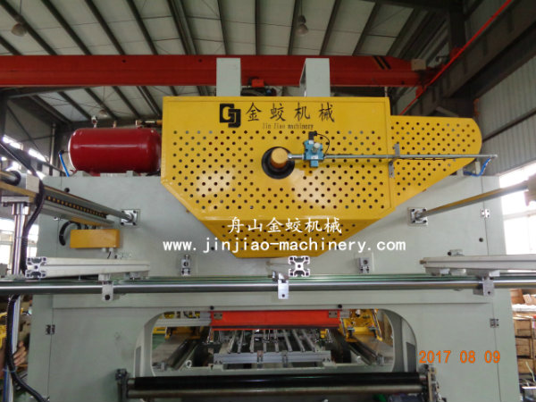 Conic top lid making production line