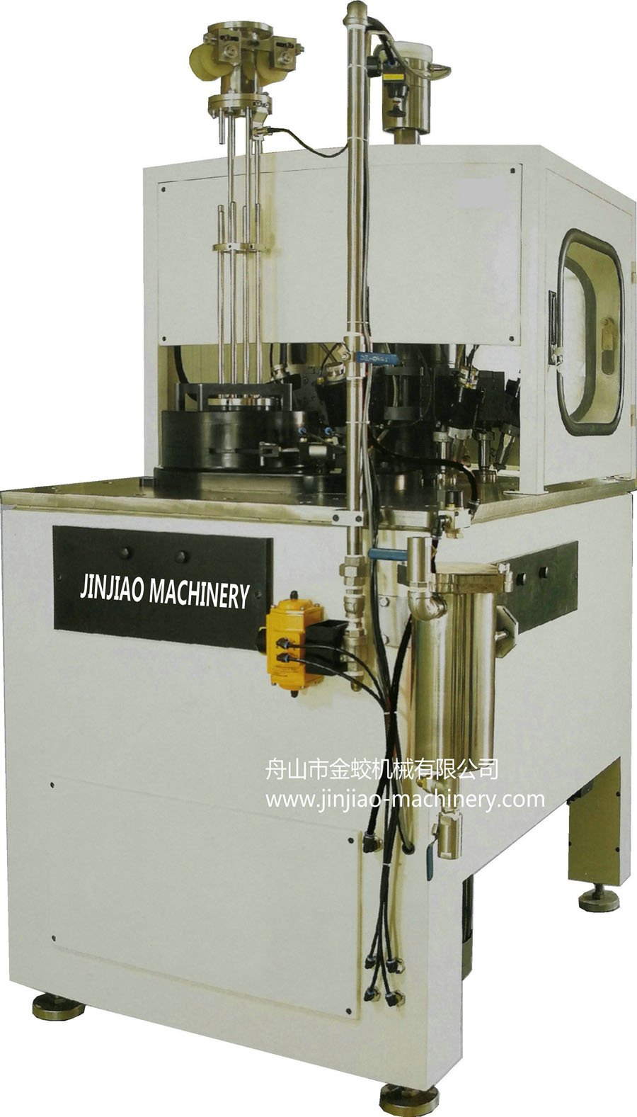 Rotary high speed lining machine